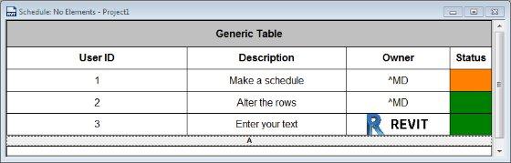 generic text tables revit revit products autodesk knowledge network
